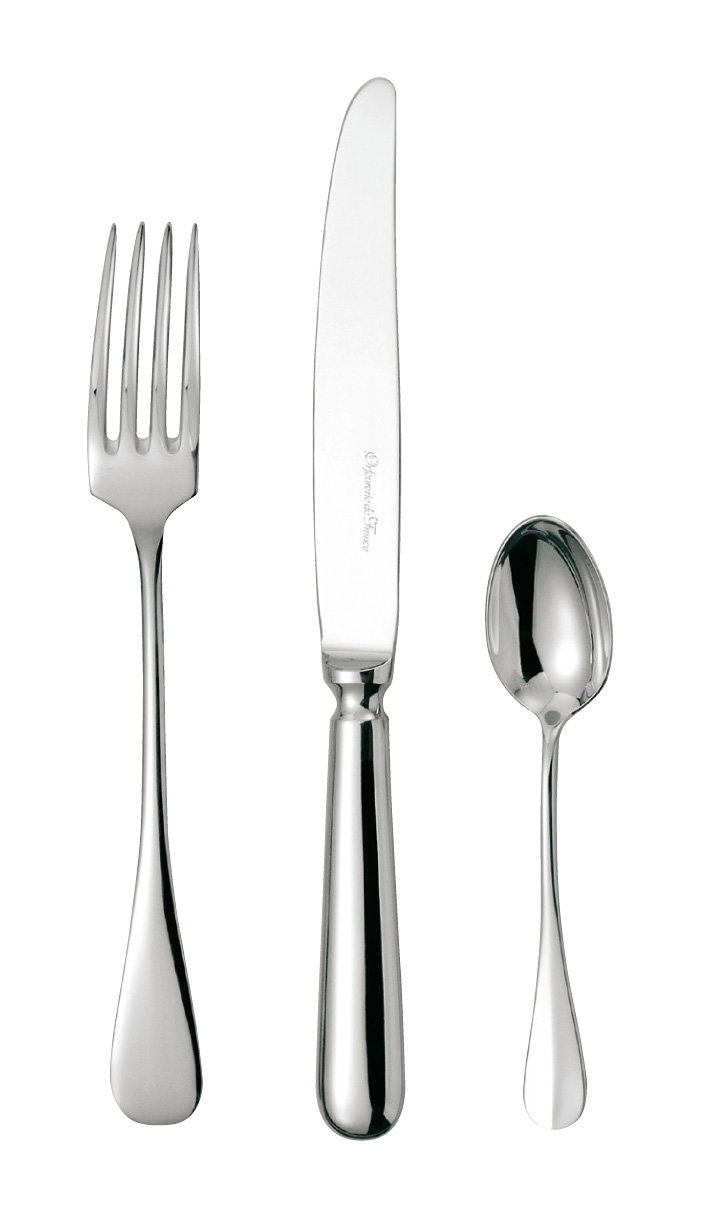 silvered silver flatware Baguette