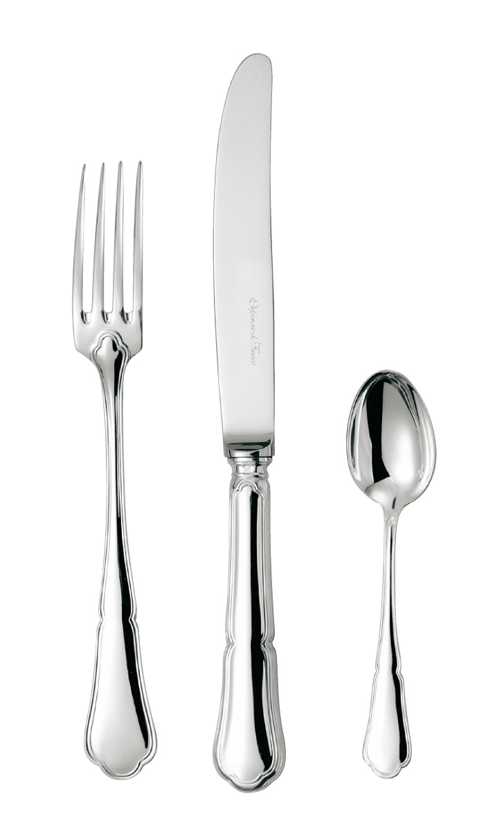 silvered silver flatware Contours 26