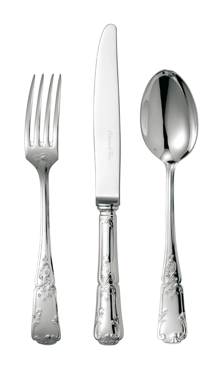 silvered silver flatware Fleury